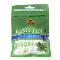 CARTEL Menthol Filters Slim 6/15 mm x 120 pcs