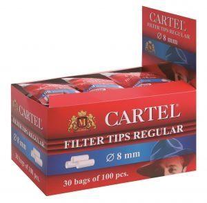 Филтри за цигари 8 мм Cartel 30х100 броя