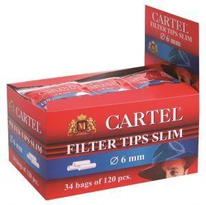 Филтри за цигари 6 мм Cartel 34х120 броя