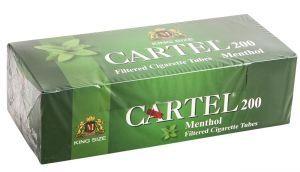 Цигарени гилзи CARTEL Ментол 200