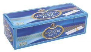 Луксозни златни цигарени гилзи Maxi Gold White 200