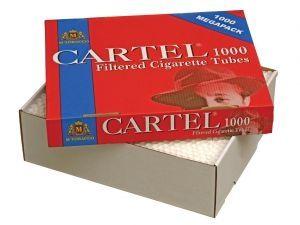 Цигарени гилзи CARTEL 1000 твърда опаковка