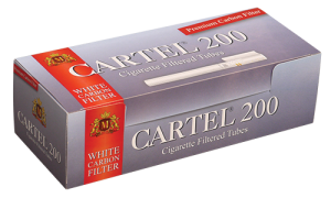Празни цигари с филтър Cartel 200  Carbon - 50 кутии