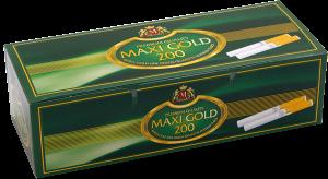 Луксозни златни цигарени гилзи Maxi Gold 200 - 50 кутии