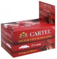 Филтри за цигари Cartel LONG SLIM 6 mm 100 х 34 торбички