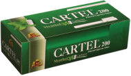 Цигарени гилзи Cartel 200 Карбон+Ментол