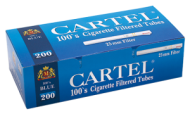 Cigarette tubes CARTEL 100's BLUE x 50 boxes