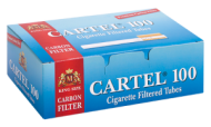 Cigarette Filtered Tubes CARTEL 100 Carbon 20 mm x 100 boxes