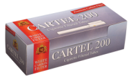 Cigarette filtered tubes CARTEL 200 Carbon 20 mm - 50 boxes
