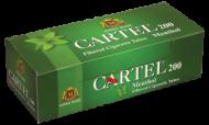 Празни цигари с филтър Cartel 200 Ментол - 50 кутии