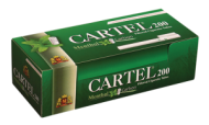 Cigarette tubes CARTEL 200 Menthol Carbon 20 mm x 50 boxes