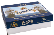 Cigarette filtered tubes Moreno 1000 - 5 boxes